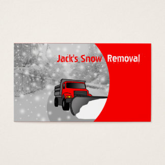 Snow Removal Business Cards- Color Changeable Business Card