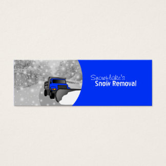 Snow Removal- Color Changeable Mini Business Card