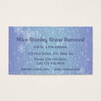 Snow Removal  Custom Business Business Card