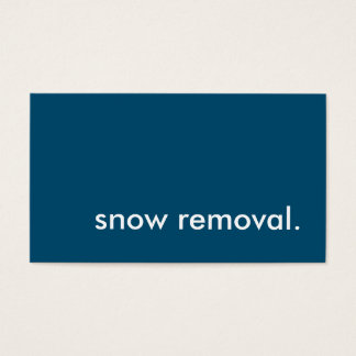 snow removal. loyalty punch card