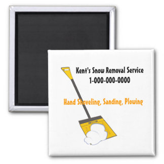 Snow Removal 2 Inch Square Magnet
