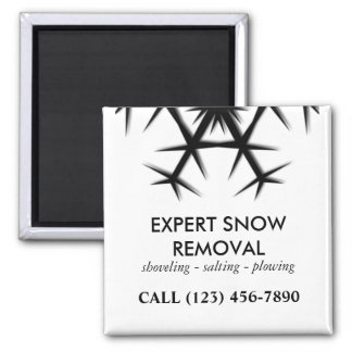 Snow Removal, Plowing and Shoveling Magnet