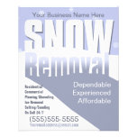 """Snow Removal Plowing Customizable Template 4.5"""" X 5.6"""" Flyer"""