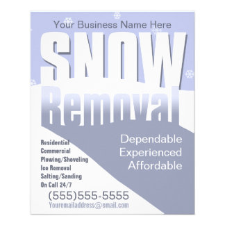 "Snow Removal Plowing Customizable Template 4.5"" X 5.6"" Flyer"