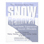 """Snow Removal Plowing Customizable Template 4x5 4.5"""" X 5.6"""" Flyer"""