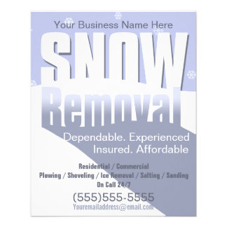 "Snow Removal Plowing Customizable Template 4x5 4.5"" X 5.6"" Flyer"