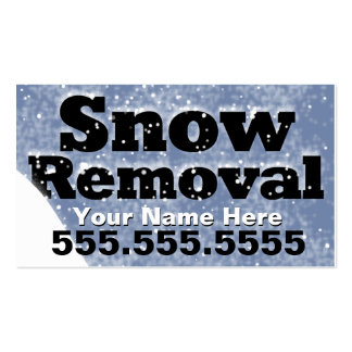 Snow Removal Plowing CustomizableTemplate Business Card