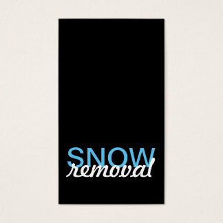 snow removal punch card