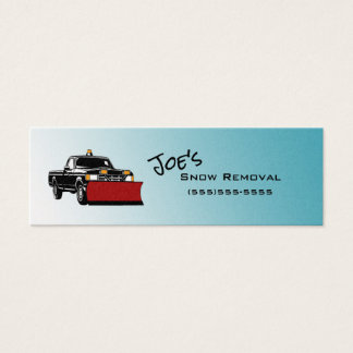 Snow Removal Service Skinny Business Cards