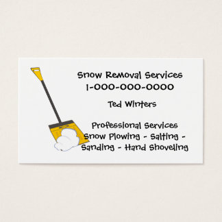 Snow Removal Services Business Card
