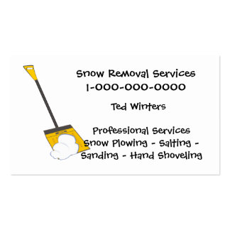 Snow Removal Services Business Cards