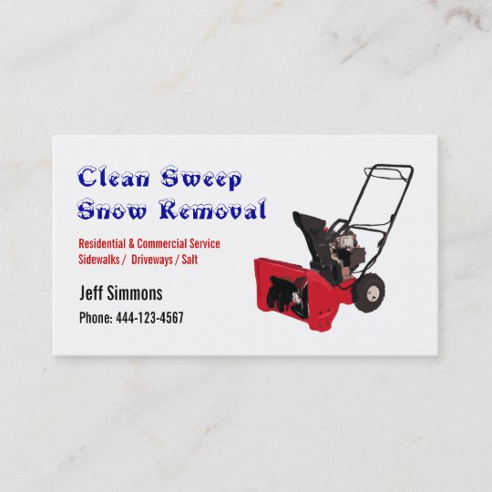 Snow removal snow blower business card zazzle snow removal snow blower business card colourmoves