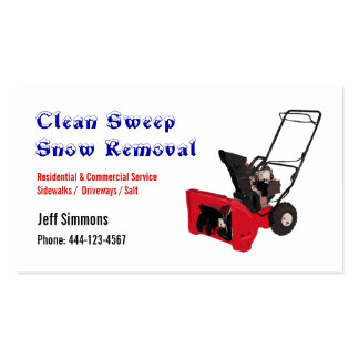 Snow Removal Snow Blower Business Card