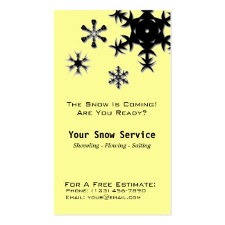 Snow Removal, Snow Plowing Double-Sided Standard Business Cards (Pack Of 100)