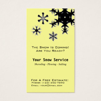 Snow Removal, Snow Plowing Business Card