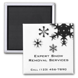 Snow Removal, Snow Plowing, Snow Shoveling Magnet