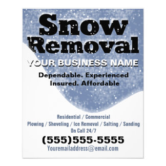 "Snow Removal Winter Plowing Template 4.5"" X 5.6"" Flyer"