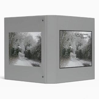 Snow Road - Quote Binder