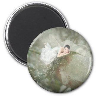 Snow Rose Fairy Fridge Magnets