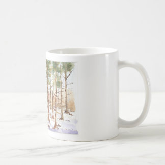 Snow scean coffee mugs