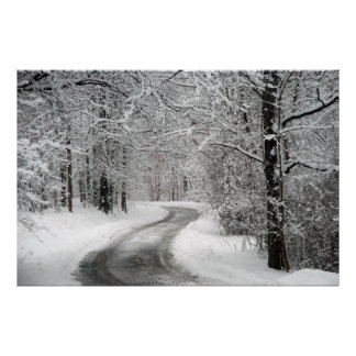 Snow Scene Art Print Poster