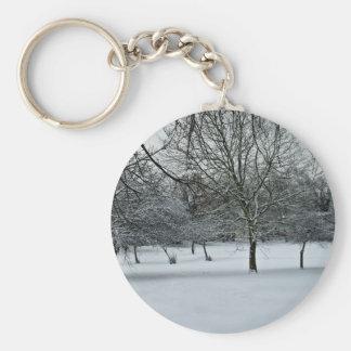 Snow Scene Keychains