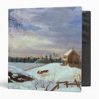 Snow scene, New England Binder