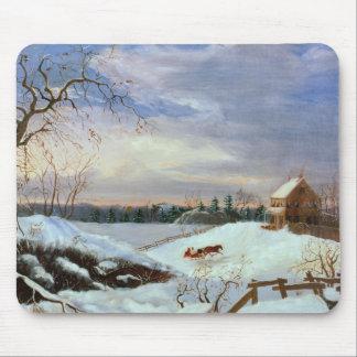 Snow scene, New England Mouse Pad