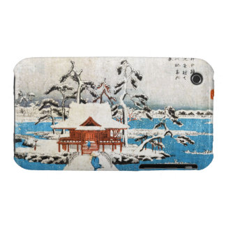 SNOW SCENE OF BENZAITEN SHRINE IN INOKASHIRA POND iPhone 3 Case-Mate CASES