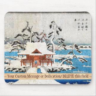 SNOW SCENE OF BENZAITEN SHRINE IN INOKASHIRA POND MOUSE PAD