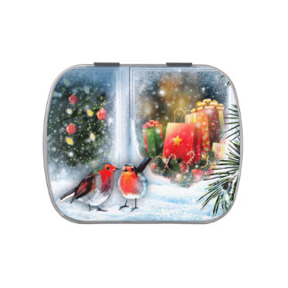 Snow Scene Painting Christmas Gift Candy Candy Tins