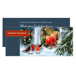 Snow Scene Painting Christmas Party Invitation