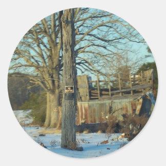 Snow Scene - Rural NC Stickers