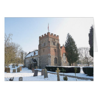 Snow scene, St Mary's Church Card