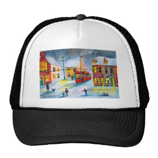 SNOW SCENE TRAM STREET SCENE Gordon Bruce Trucker Hat