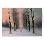 Snow Scene-Wanstead Park Greeting Card