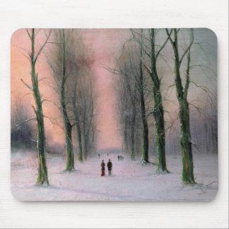 Snow Scene-Wanstead Park Mouse Pad