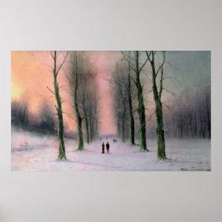 Snow Scene-Wanstead Park Print