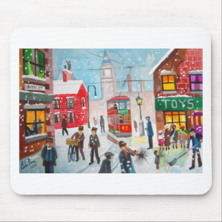 Snow scene winter chimney sweeps painting G Bruce Mouse Pad