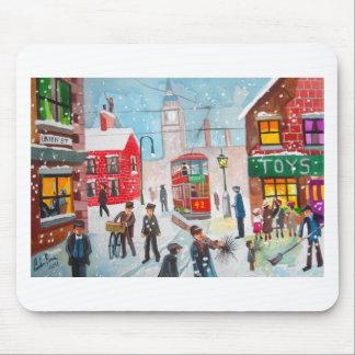Snow scene winter chimney sweeps painting G Bruce Mousepad