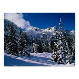 Snow Scene Winter Mountains Print
