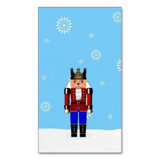 Snow Scene with Nutcracker ~.jpg Business Card Magnet