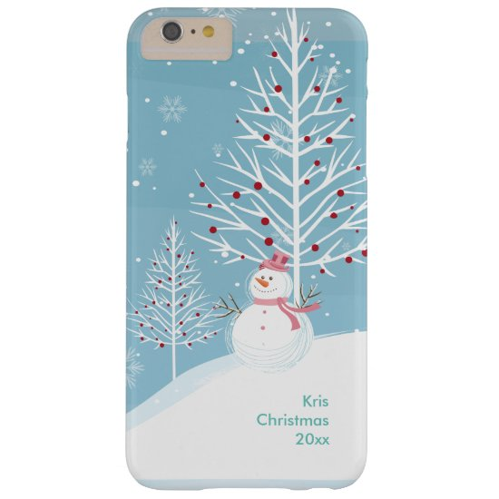 Snow Scene with Snowman Christmas Phone Case