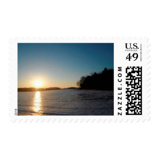 Snow Set Postage Stamp