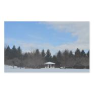 Snow shed rectangular sticker