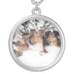 Snow Shelties Personalized Necklace