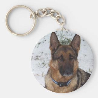Snow Shepherd Basic Round Button Keychain