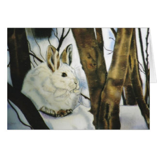 """Snow Shoe Hare"" Greeting Card"