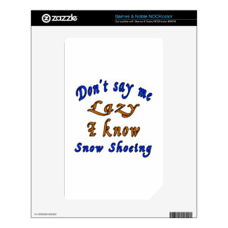 Snow Shoeing Designs Skin For The NOOK Color