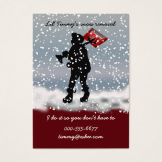 snow shovel business card
